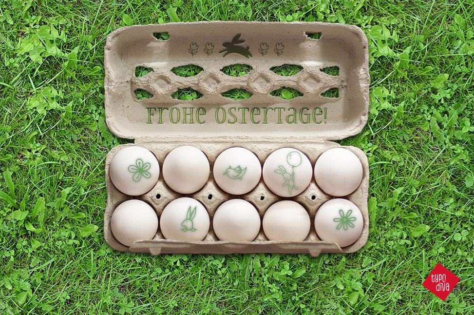 Ostern Eierkarton