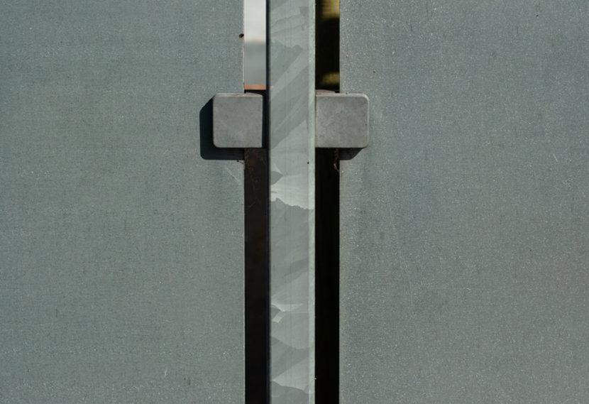 vertikal linien eines zauns