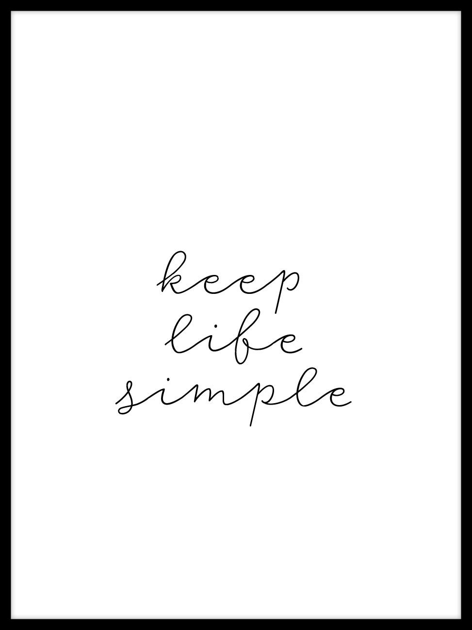 halte dein leben einfach