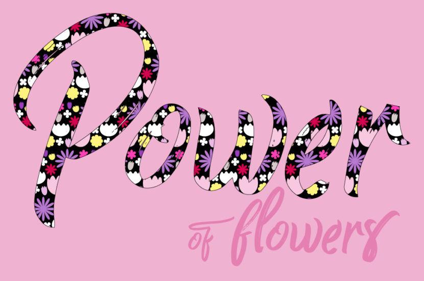 flower power als muster