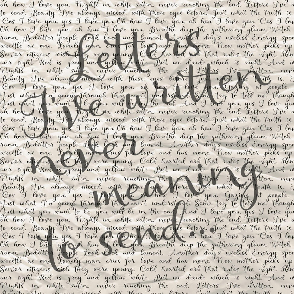letters I've written song