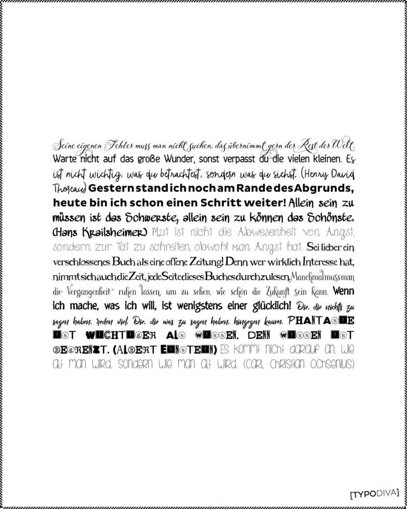 Sammlung diverser Sprüche und Zitate