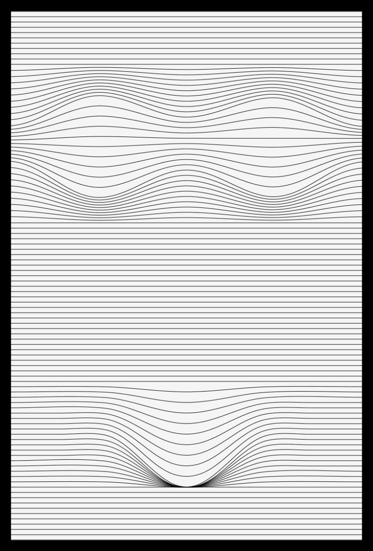 Bikini ah toll Linienverformung Grafik