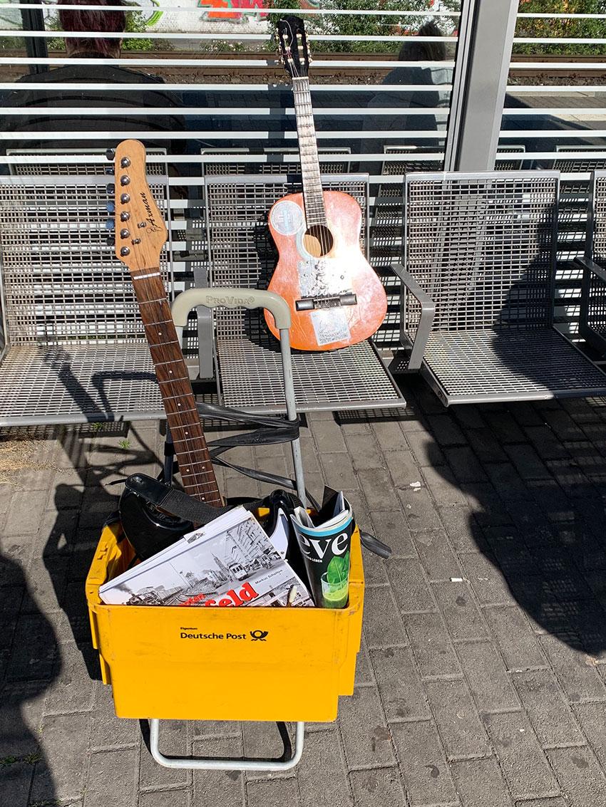 mein leben am bahnhof gitarre