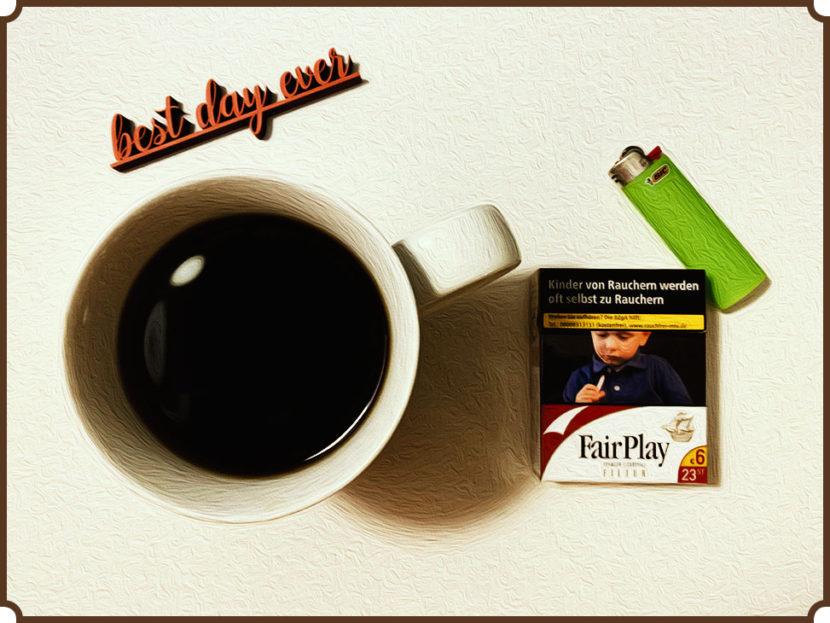 nuttenfrühstück kaffee und zigarette