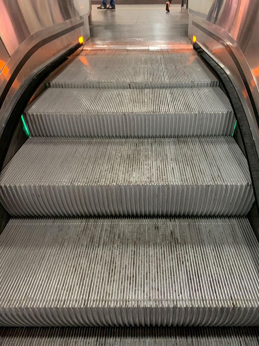 rolltreppe nach oben