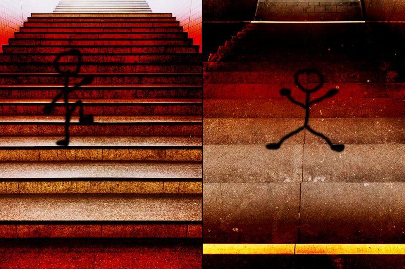 das leben ist eine treppe